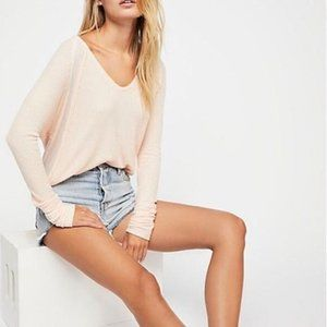 Free People Catalina Thermal Peach Tunic